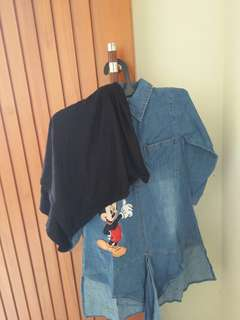 Setelan baju denim