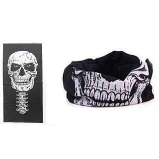 全新 多功能 魔術 頭巾 骷髏頭 面罩  #有超取最好買