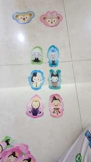 Disney witches sticker 迪士尼反派貼纸( 紅心皇后, 邪惡皇后, 庫伊拉, 黑巫婆,凱帝斯,烏蘇拉)