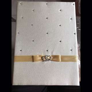 Guest signature book - for wedding
