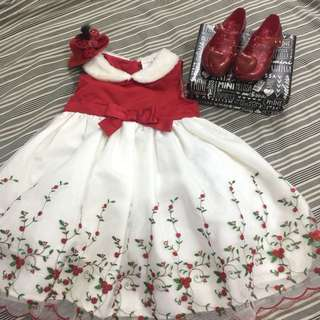 Red And White Gown