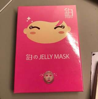 日本 鉑 Jelly mask美白 雨翹推薦 羽翹 保濕 水潤果凍面膜 透明質酸 有倒膜效果 用完好白滑