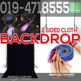 In-Stock✔2-sided 2in1 Black White Double Side Backdrop Cloth Photo Studio Curtain