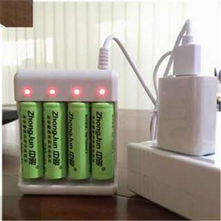 USB AA / AAA Battery Charger
