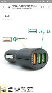 Car Charger, Smart Qualcomm Quick Charge 2.0