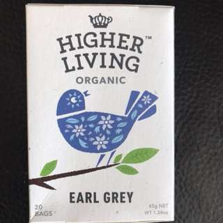 英國HIGHER LIVING organic Earl Grey tea bags 有機經典伯爵茶茶包
