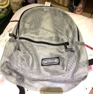 Outdoor fishnet backpack