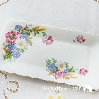 Vintage Royal Albert floral sandwich tray