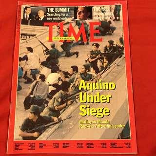 Time Magazine Dec 11, 1989  AQUINO UNDER SIEGE