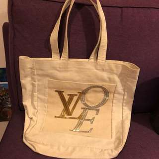 Louis Vuitton 麻布袋
