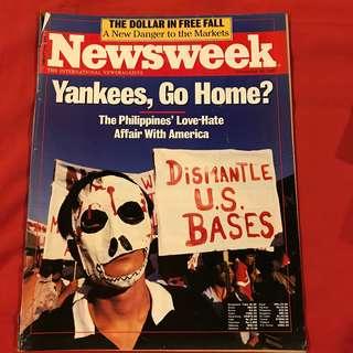 Newsweek Magazine Nov 16, 1987 Yankees Go Home #USBases