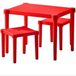 Ikea children's table and stool set