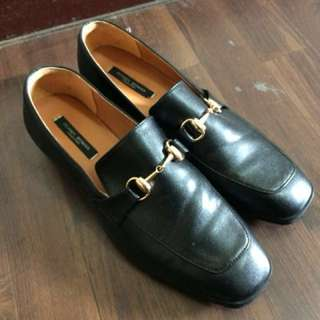 英國流行時尚 金扣復古乐福鞋