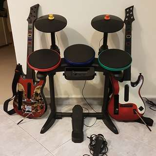 Guitar hero with drums (Wii)
