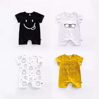🌟INSTOCK🌟 Assorted Design Romper Onesie for Baby Toddler Boy and Girl Children Kids Everyday Wear
