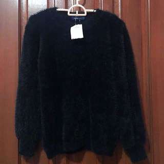 NEW! Candy Black Faux Fur Sweater