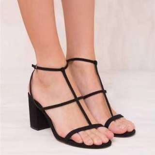 Therapy Black Block Heels