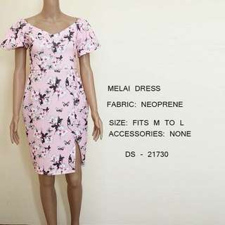 Pastel Pink Floral Dress Office / Party wear