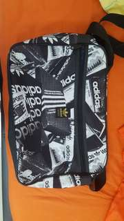 Adidas Graphic White Sling Bag