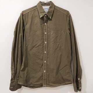 🚚 墨綠色 長袖 襯衫