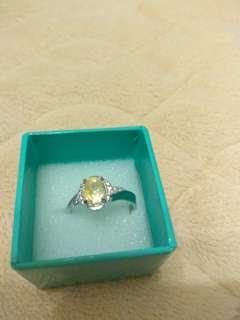 🚚 天然黃寶石戒指
