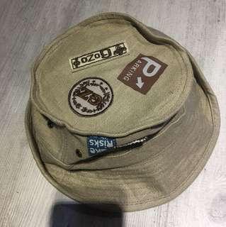 Gozo綿麻漁夫帽,買來沒戴過,像新的一樣