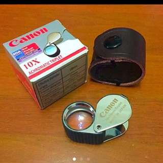 Canon Loupe 10x Achromatic Triple  18mm Jewelry Gem Magnifying Glass Made In Japan