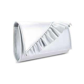 BNIP silver sling clutch bag