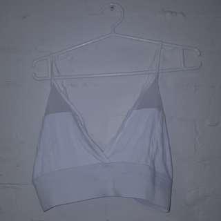 Size 18 Plus Size White Mesh Bralet