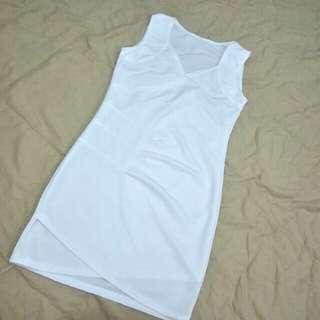 📣(FREE.pos) white mini dress
