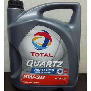 TOTAL QUARTZ INEO ECS 5W30 Fully Synthetic Oil 5Litres