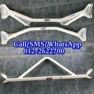 D2 Racing Front and Rear Strut Bar for WIRA/SATRIA/PUTRA