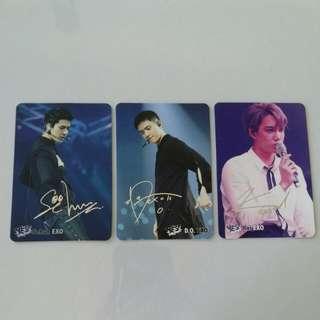 EXO 銀簽 Yes Card (Sehun, D.O., Kai)