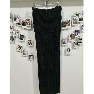 Pleated BandeaU Dress