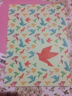 Origami lining book