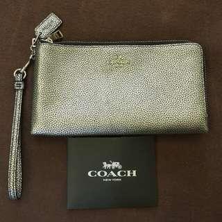 🚚 Coach經典色雙層雙拉鍊 手拿包