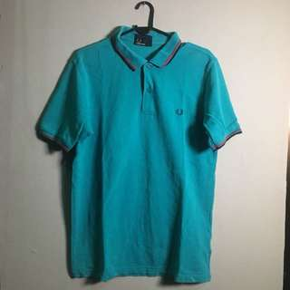 FRED PERRY Twin Tipped Polo Shirt Blue