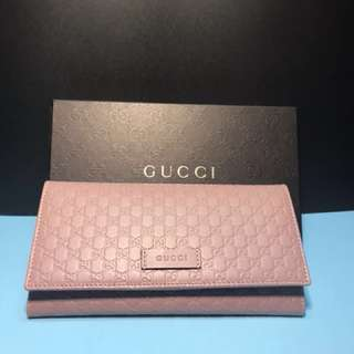 Gucci Wallet 100% New and Real 牛皮長銀包