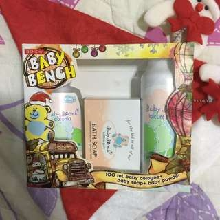 BABY BENCH GIFT SET - COLOGNE, BABY POWDER & SOAP