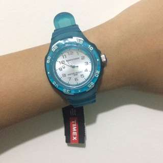 Blue timex watch