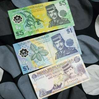 Old Notes brunei $1