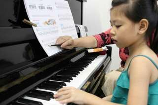 Piano lesson at home or school