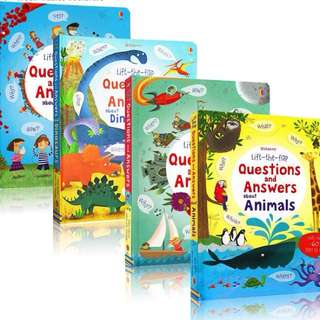 Usborne lift and flap question and answer series