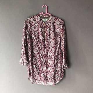 Rope Maroon Tribal Floral Shirt