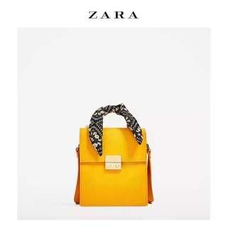 🚚 Zara 手帕都市 絲巾 小方包