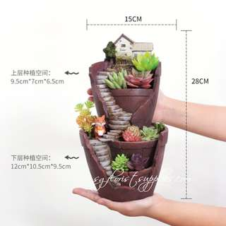 Planter Pot Terrarium Container Unique Crack Pot