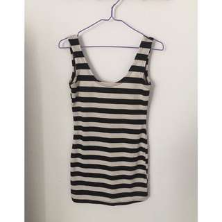 Tanktop low back Stripes