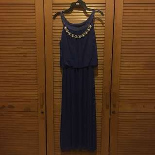 Electric Blue Maxi Party Dress