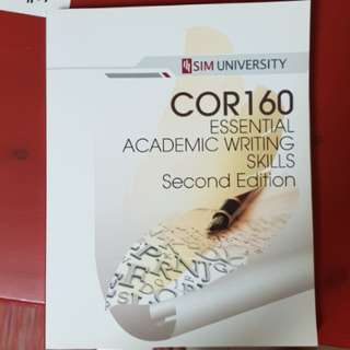COR160 Essential Writing