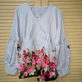 Blouse Flower Abu